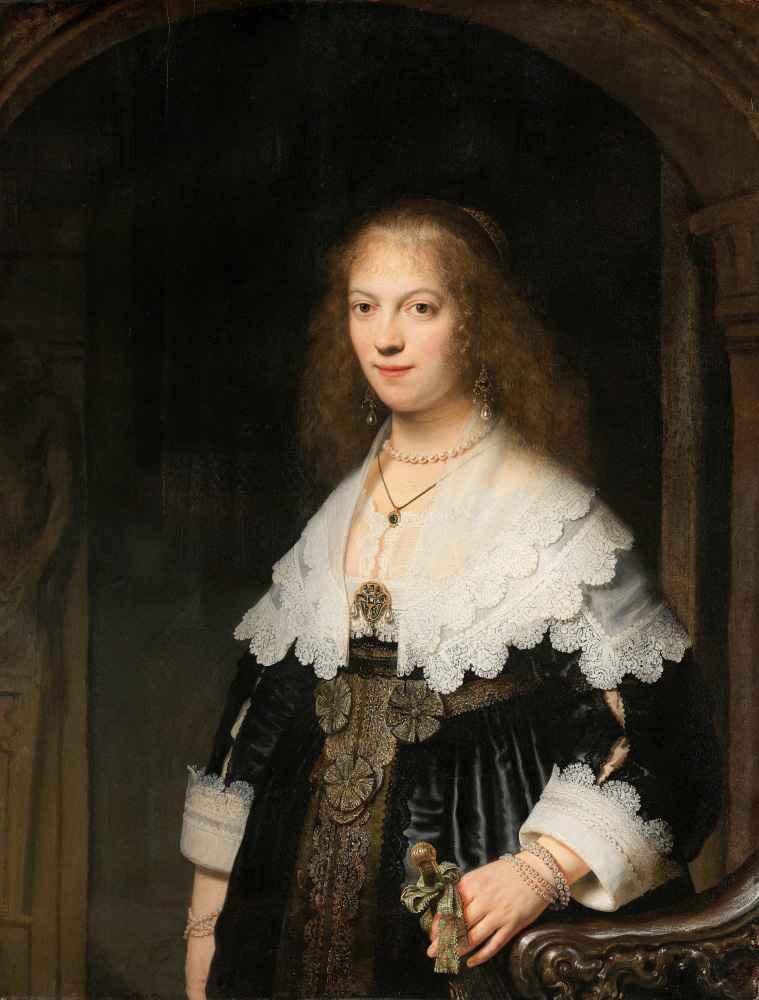 Portrait of a Woman, Possibly Maria Trip - Rembrandt Harmenszoon van R