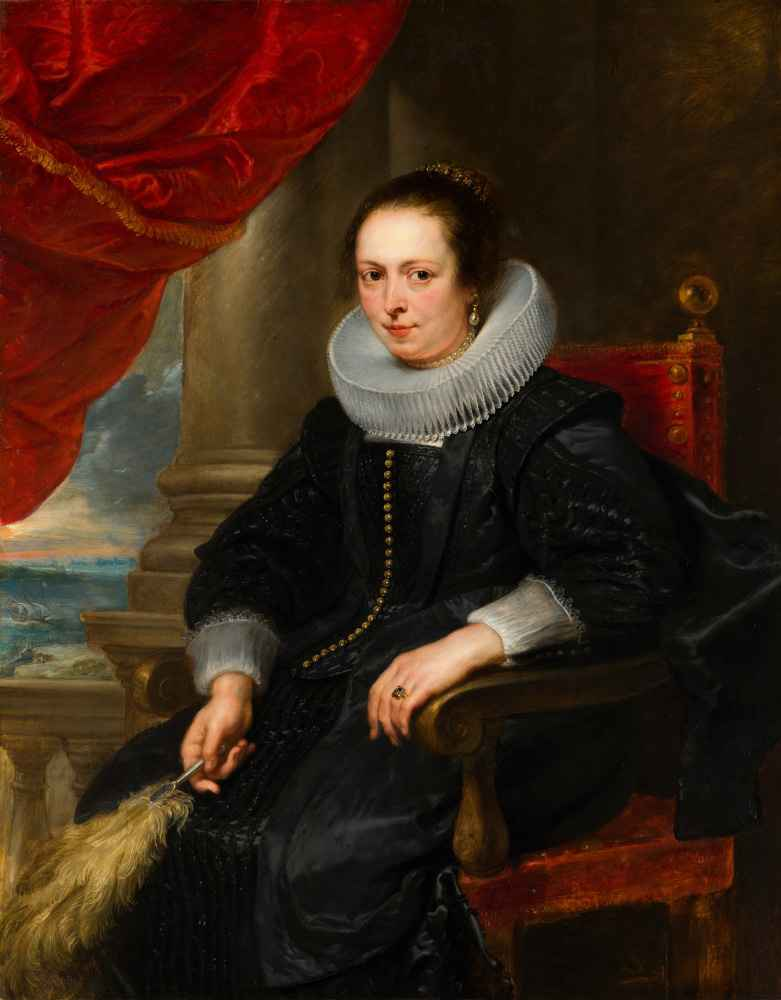 Portrait of a Woman, possibly Clara Fourment - Peter Paul Rubens