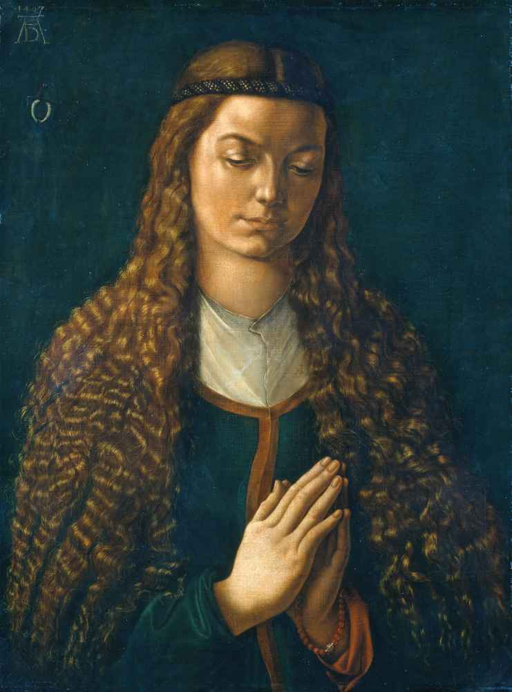 Portrait of a Young Woman with Her Hair Down - Albrecht Durer