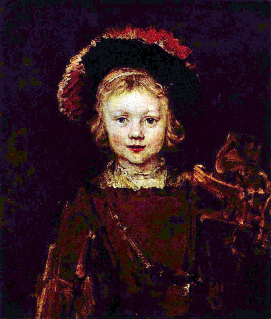 Portrait of a boy (Titus, Rembrandt son) - Rembrandt