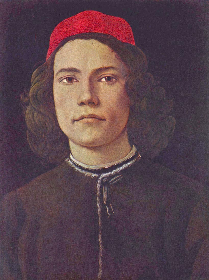 Portrait of a young man - Botticelli