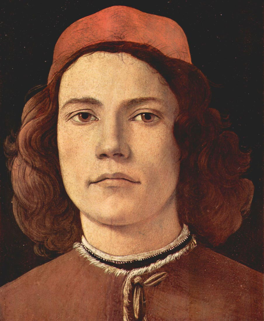 Portrait of a young man detail - Botticelli