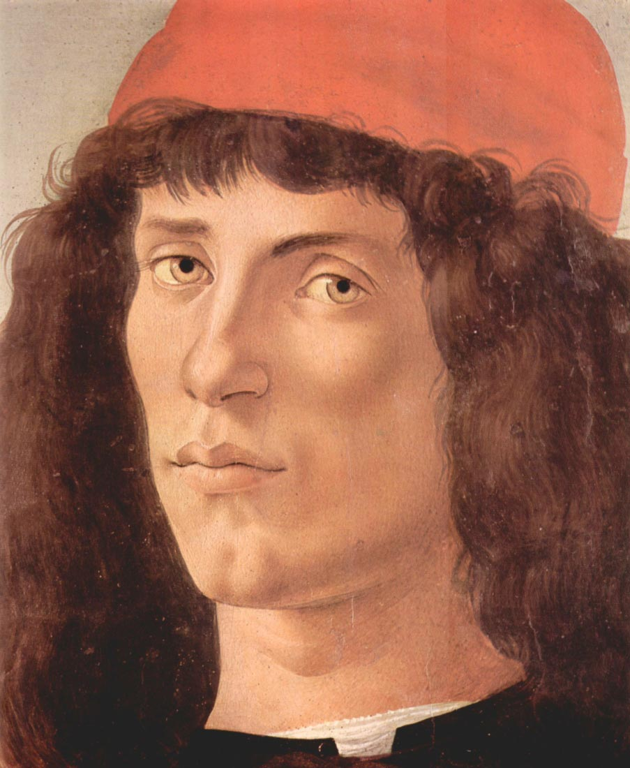 Portrait of a young man with red hat - Botticelli