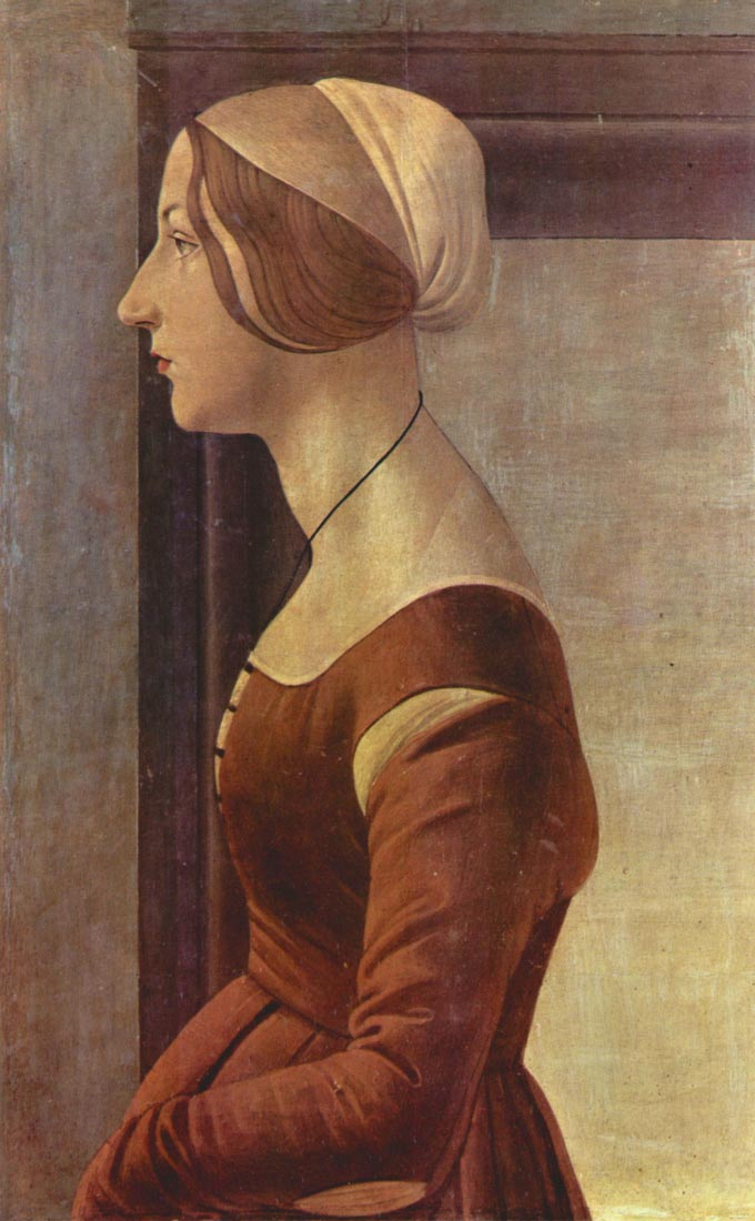 Portrait of a young woman - Botticelli