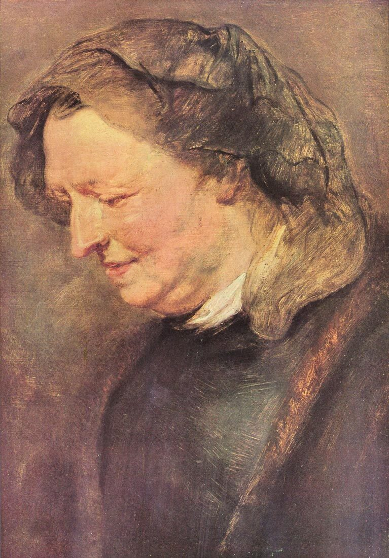 Portrait of an old woman - Rubens