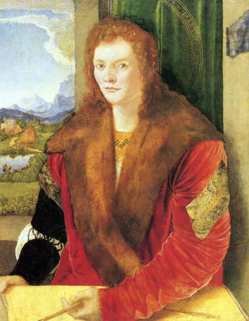 Portrait of an unknown in Red - Durer