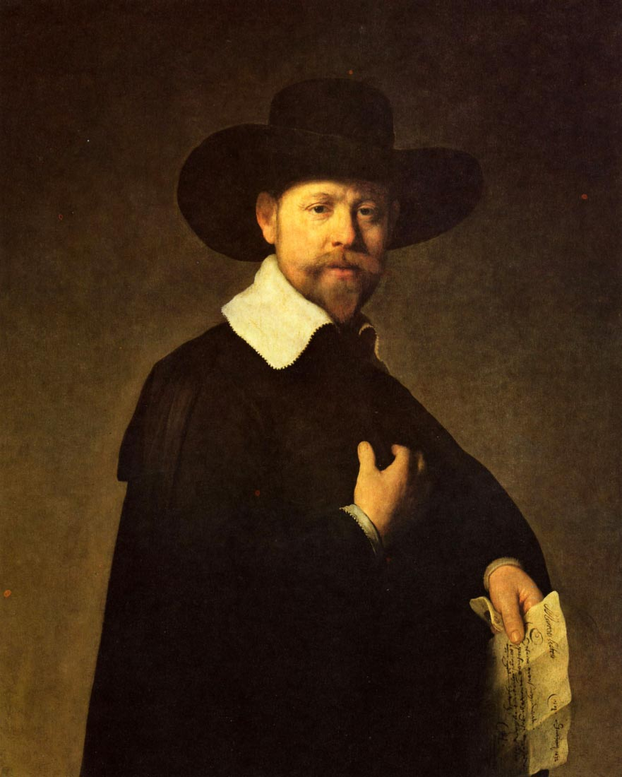Portrait of businessman Martin Looten - Rembrandt