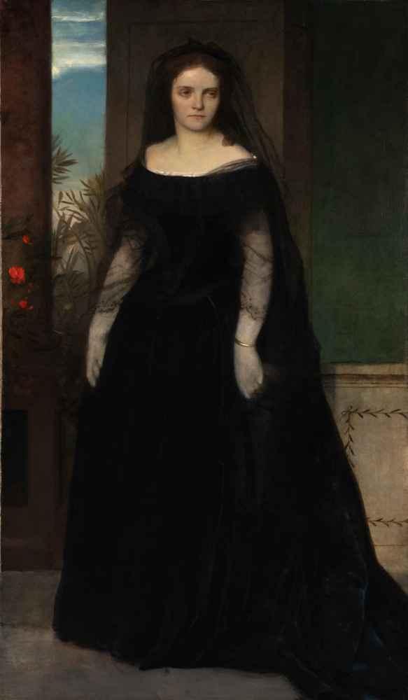Portrait of the Actress Fanny Janauschek - Arnold Bocklin