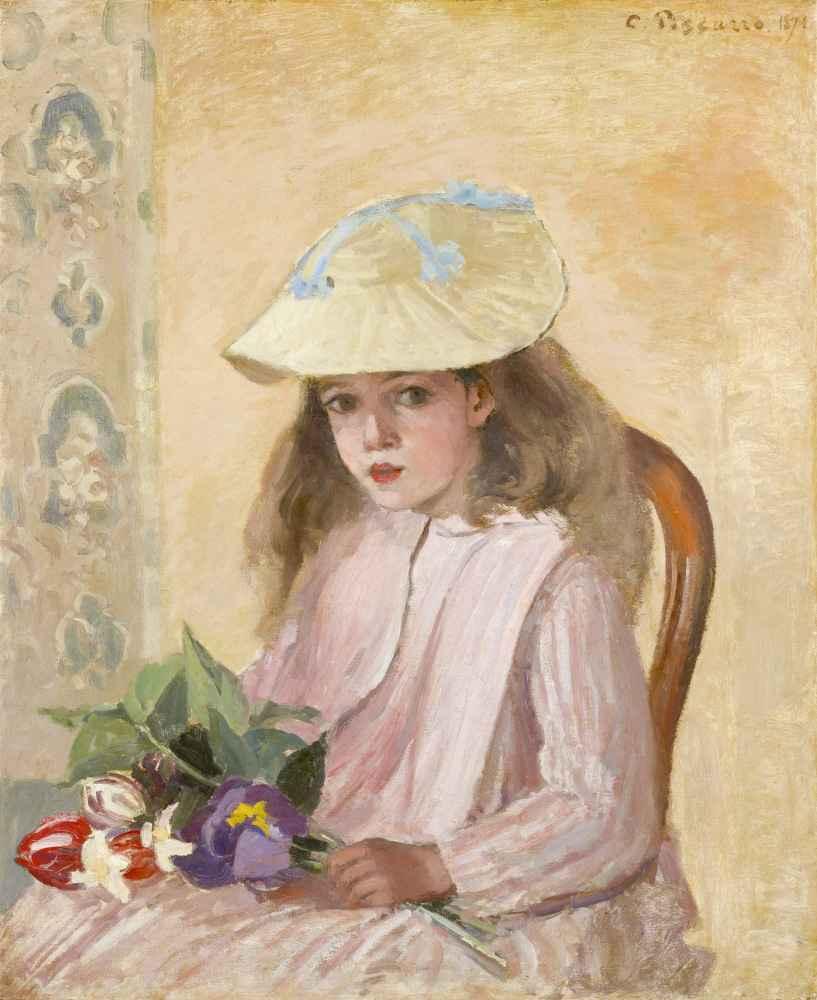 Portrait of the Artist's Daughter - Camille Pissarro