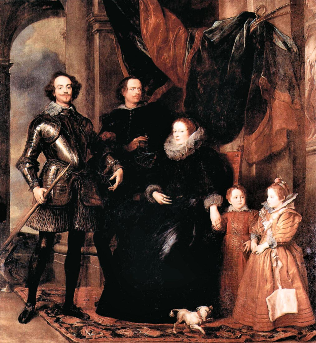 Portrait of the Lomellini family - Van Dyck
