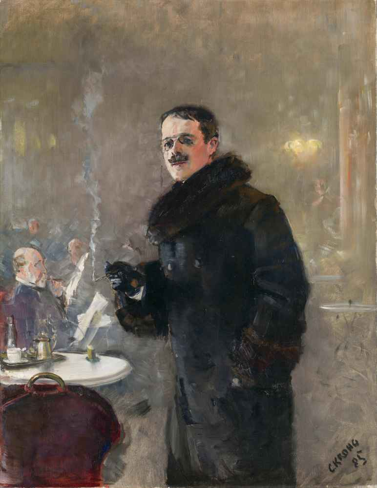 Portrait of the Painter Gerhard Munthe - Christian Krohg