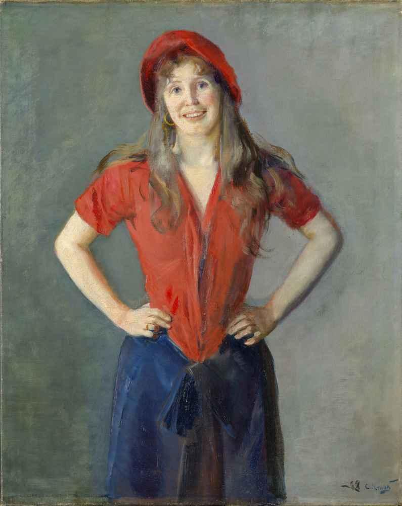 Portrait of the Painter Oda Krohg, B. Lasson - Christian Krohg