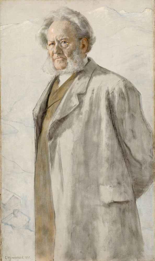 Portrait of the Poet Henrik Ibsen - Erik Werenskiold