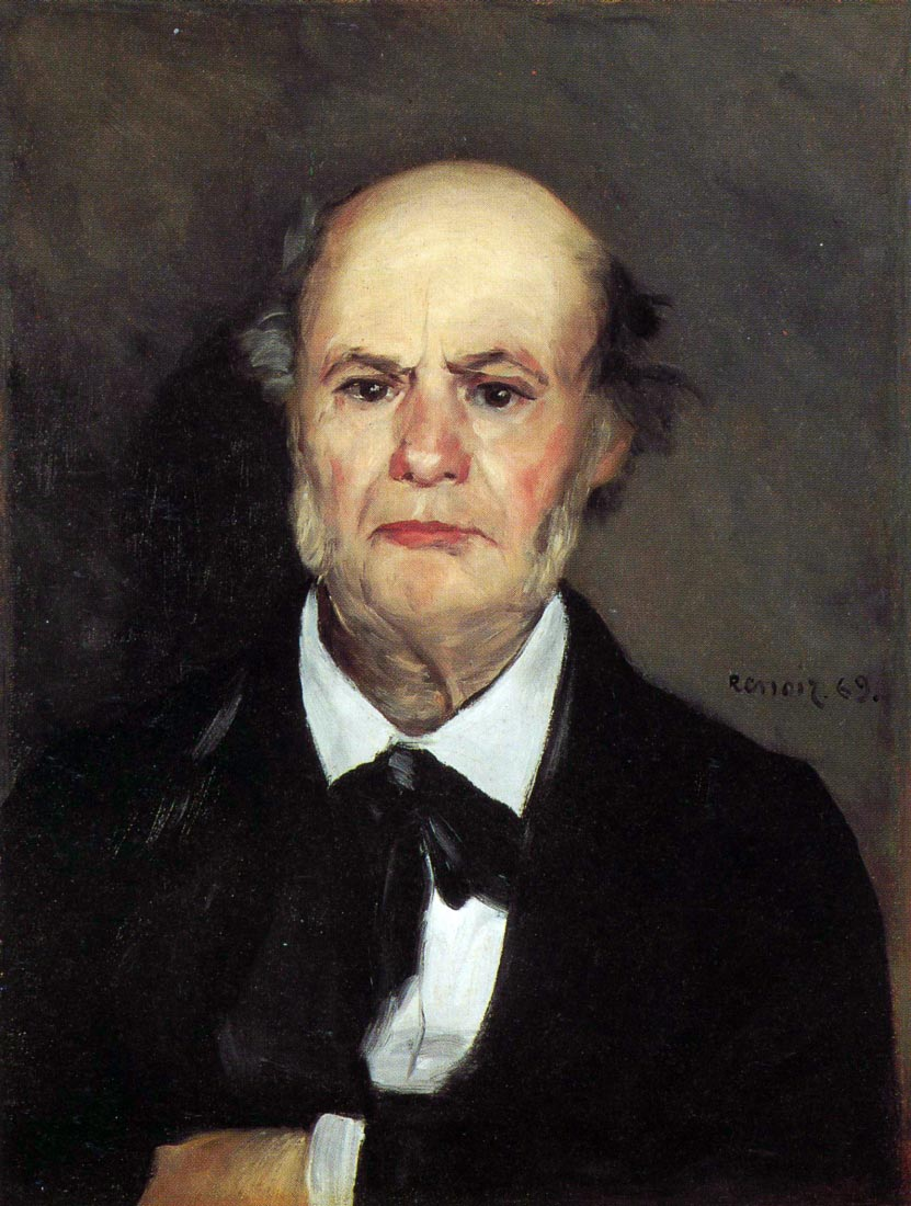 Portrait of the artists father, Leonard Renoir - Renoir