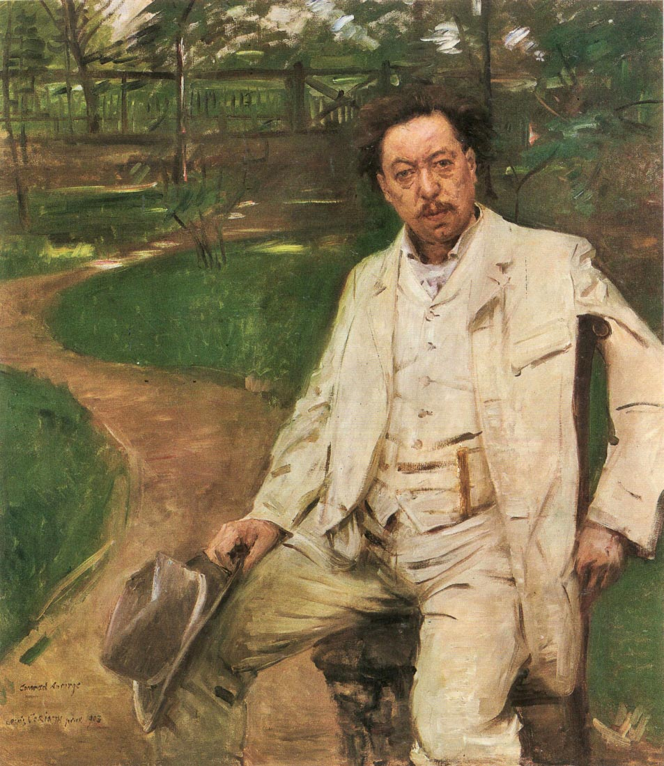 Portrait of the pianist Conrad Ansorge - Lovis Corinth