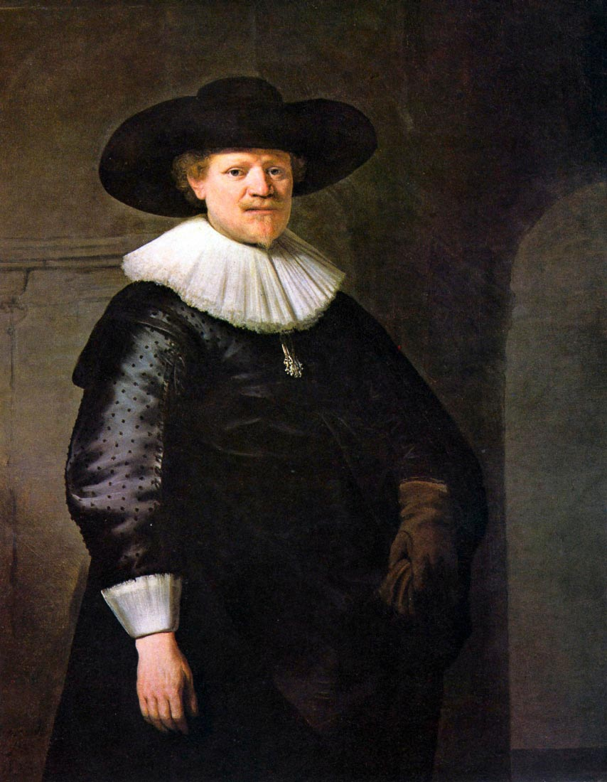 Portrait of the poet Jan Hermansz. Krul - Rembrandt