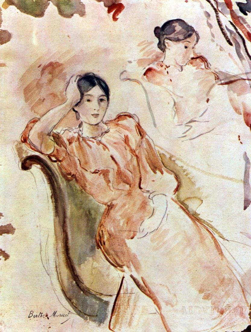 Portrait studies of Jeanne Pontillon - Morisot
