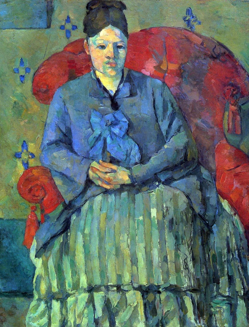 Potrait of Mme Cezanne in Red Armchair - Cezanne