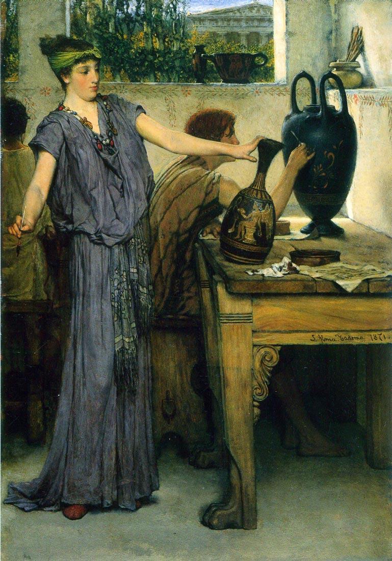 Pottery Painting - Alma-Tadema