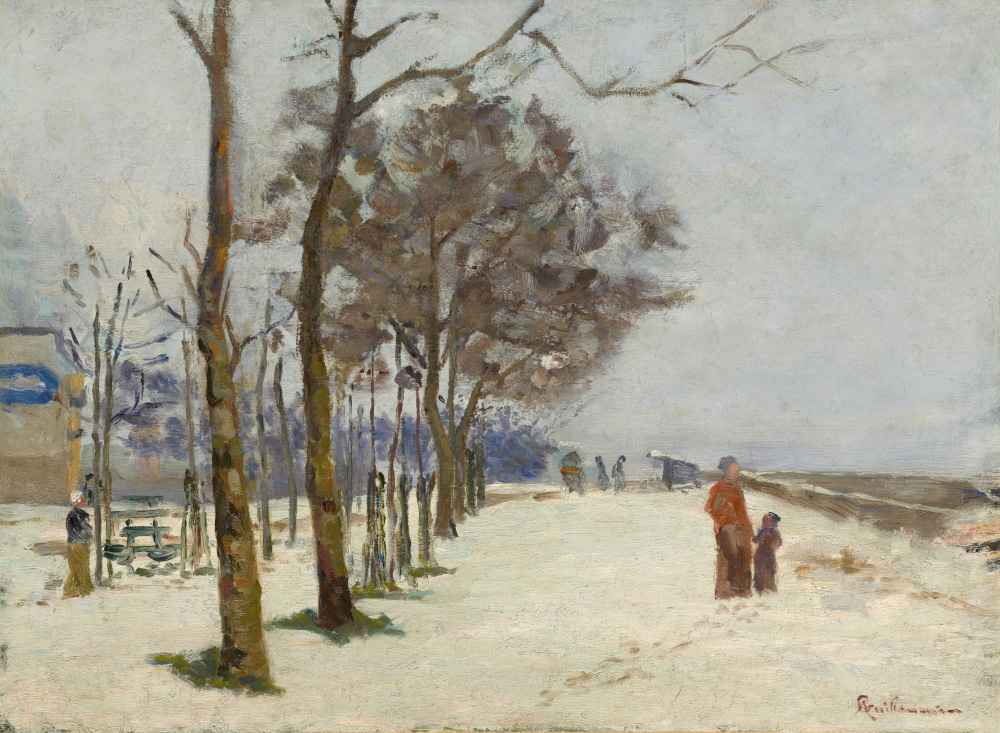 Quay in the Snow - Armand Guillaumin