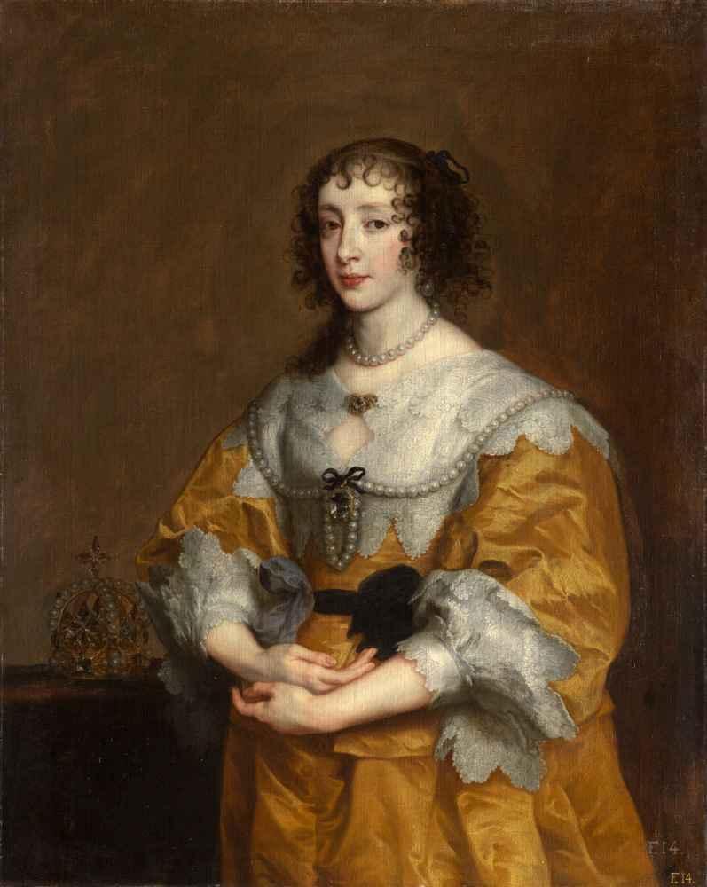 Queen Henrietta Maria - Antoon van Dyck