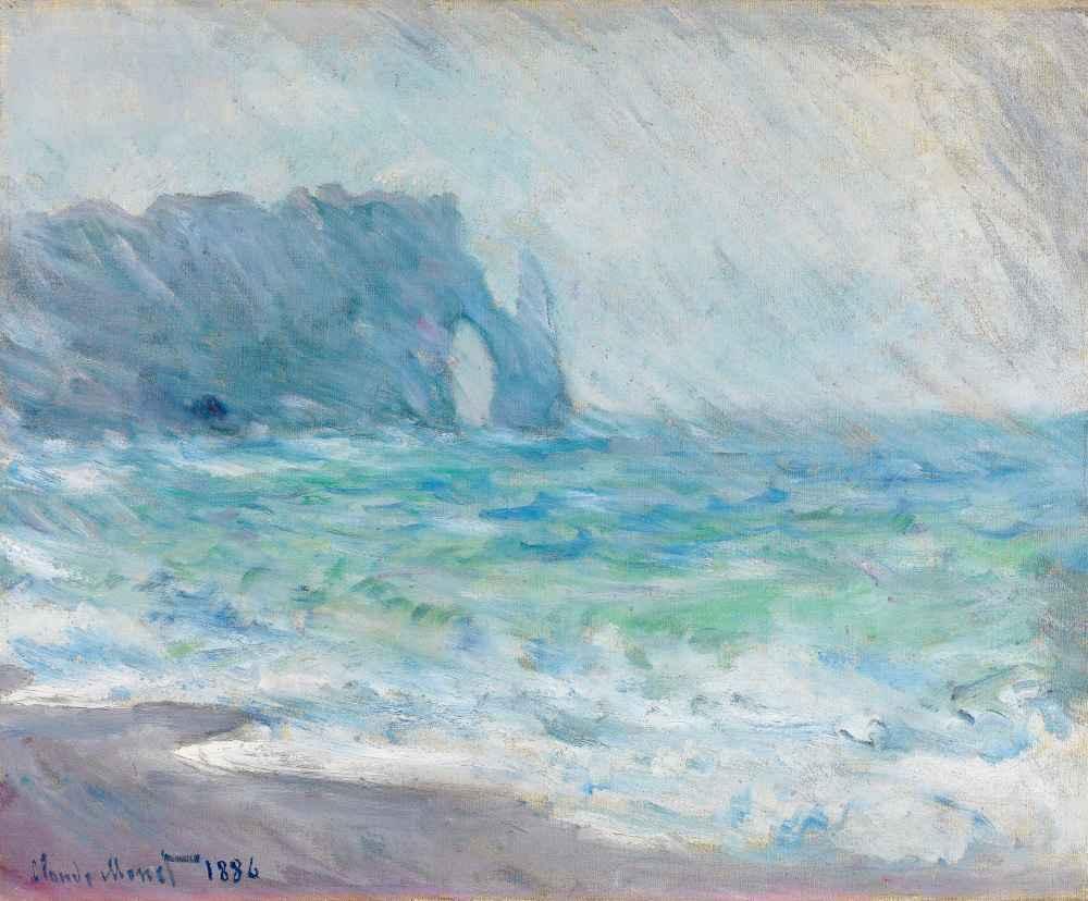 Rain, Étretat - Claude Monet