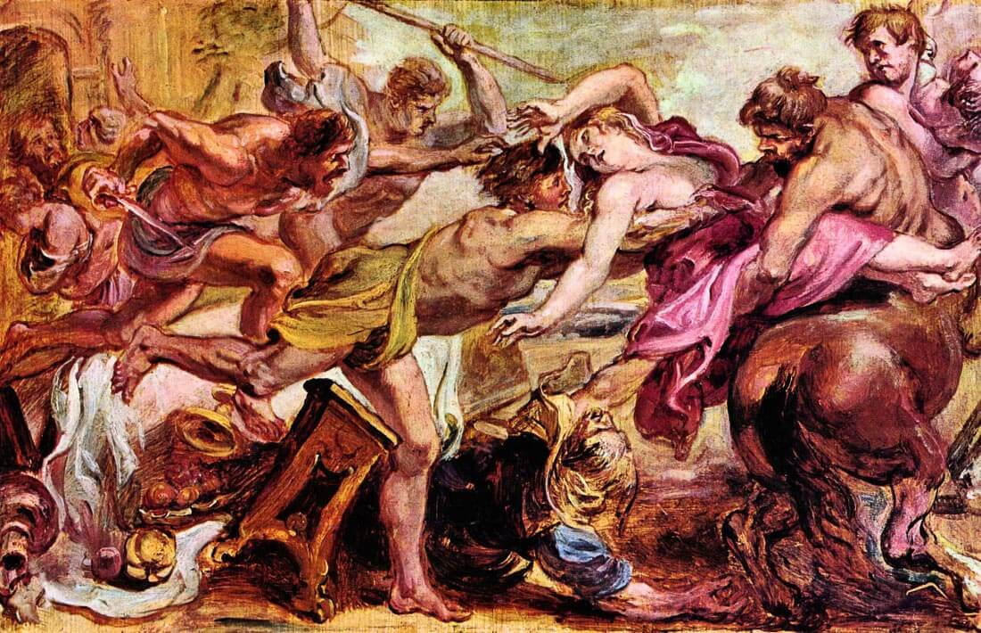 Rape of Hippodameia - Rubens