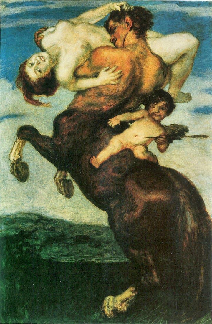 Rape of a nymph - Franz von Stuck