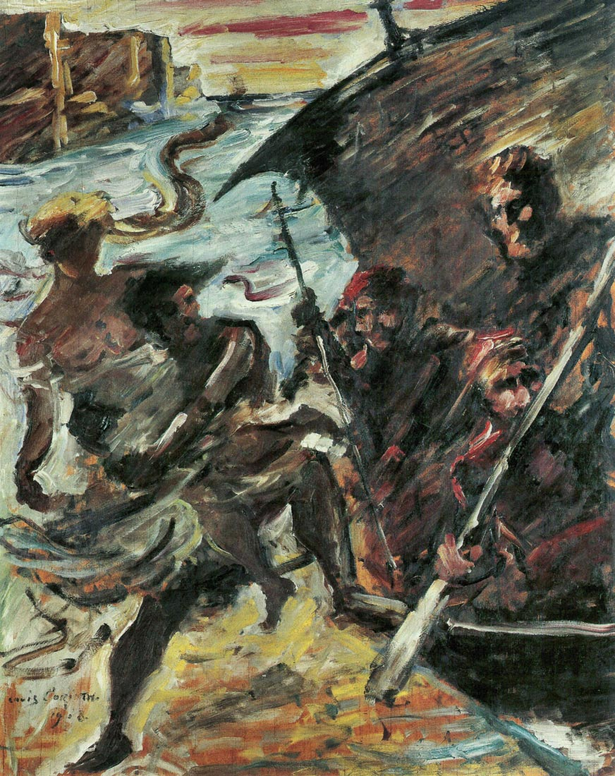 Rape of a woman - Lovis Corinth