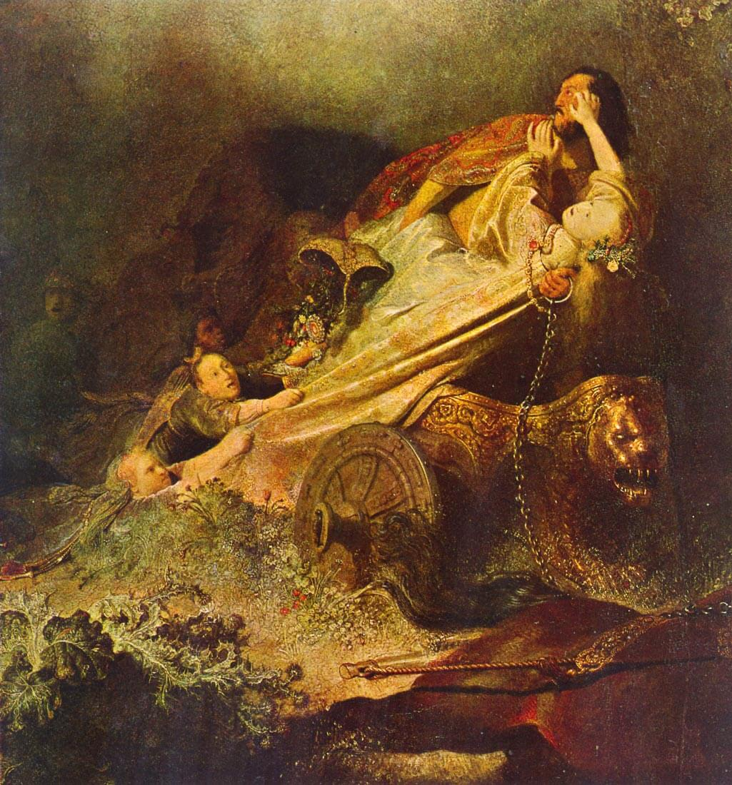 Rape of the Proserpina - Rembrandt