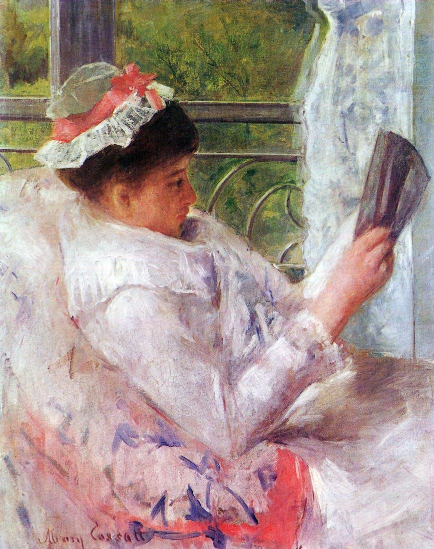 Reading Mrs. (Lydia Cassatt) - Cassatt