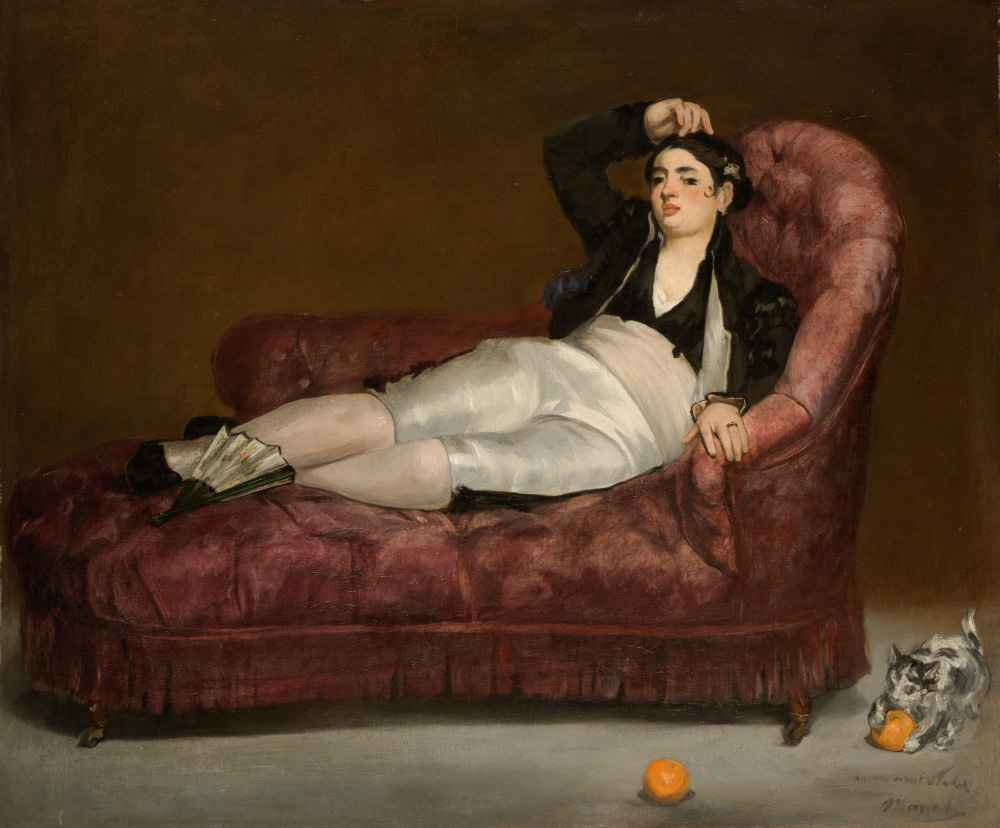 Reclining Young Woman in Spanish Costume - Edouard Manet