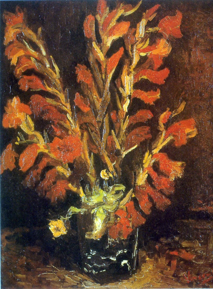 Red Gladioli - Van Gogh