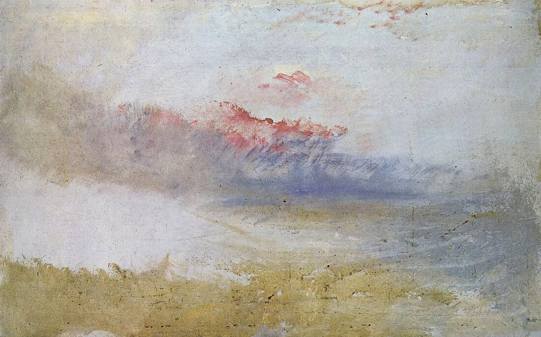 Red sky over a beach - Joseph Mallord Turner