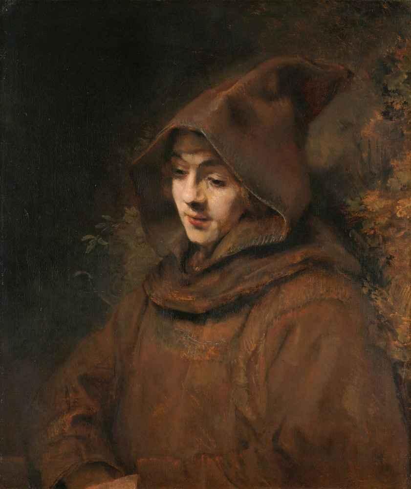 Rembrandt's Son Titus in a Monk's Habit - Rembrandt Harmenszoon van Rij