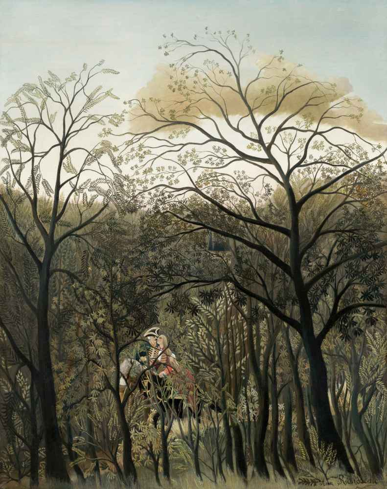 Rendezvous in the Forest - Henri Rousseau