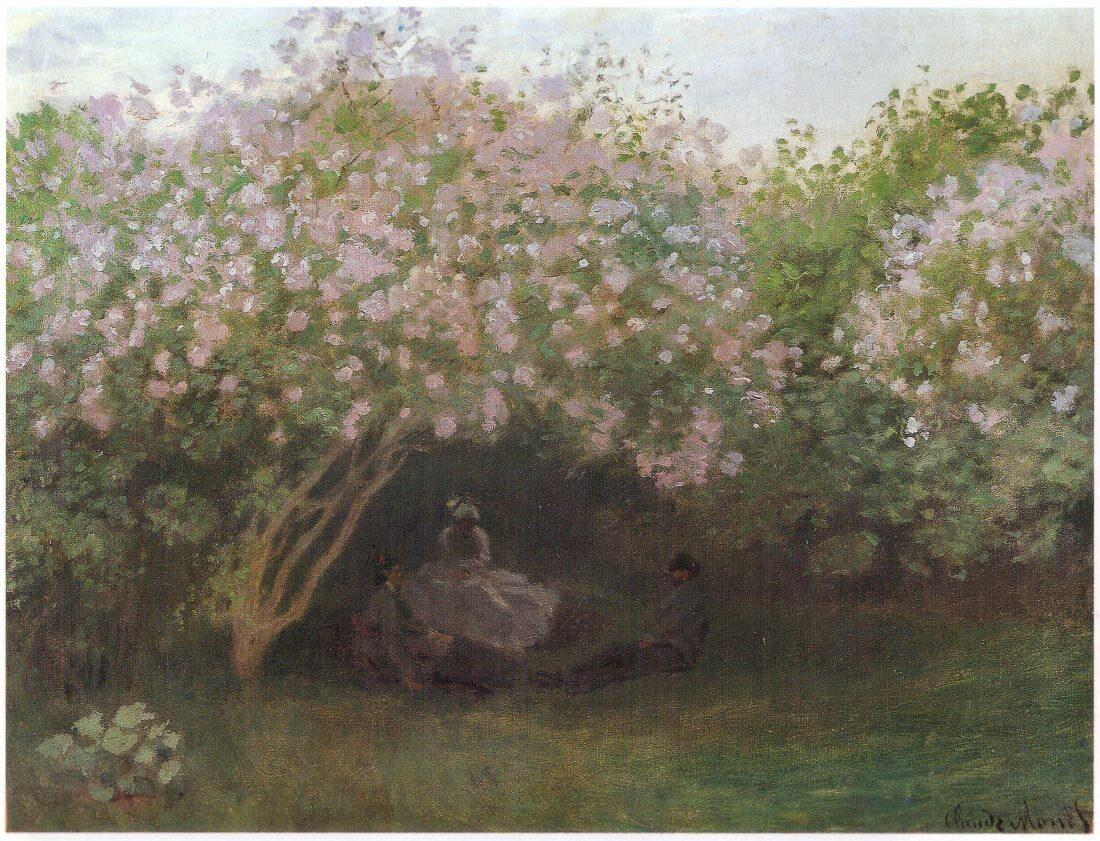 Repos sous les lilas 1872 - Monet