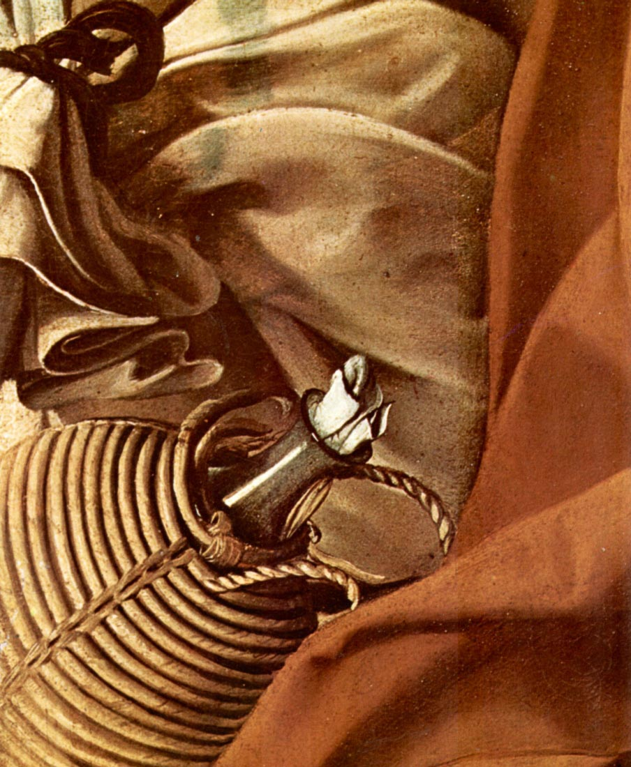 Resting on the Flight into Egypt detail 3 - Caravaggio