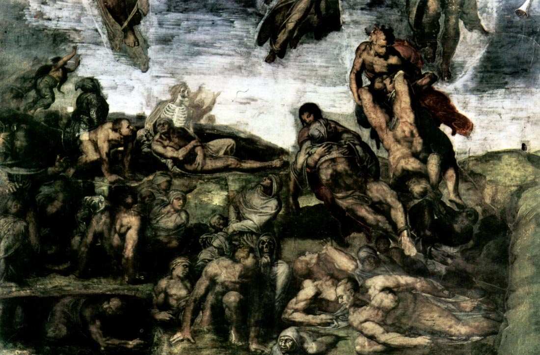 Resurrection of the dead from the graves - Michelangelo