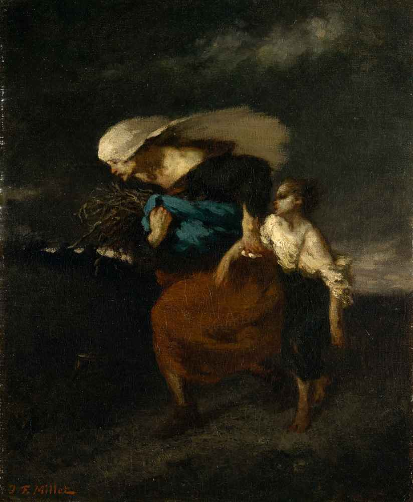 Retreat from the Storm - Jean Francois Millet