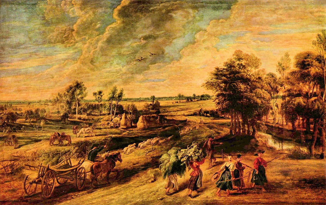 Return of the farmers from the field - Rubens