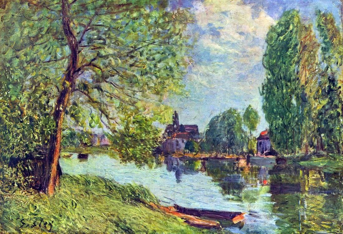 River landscape at Moret-sur-Loing - Sisley