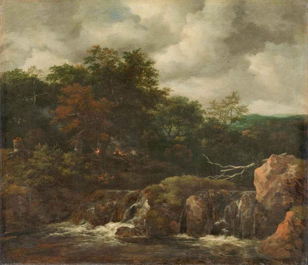 River landscape - Jacob van Ruisdael