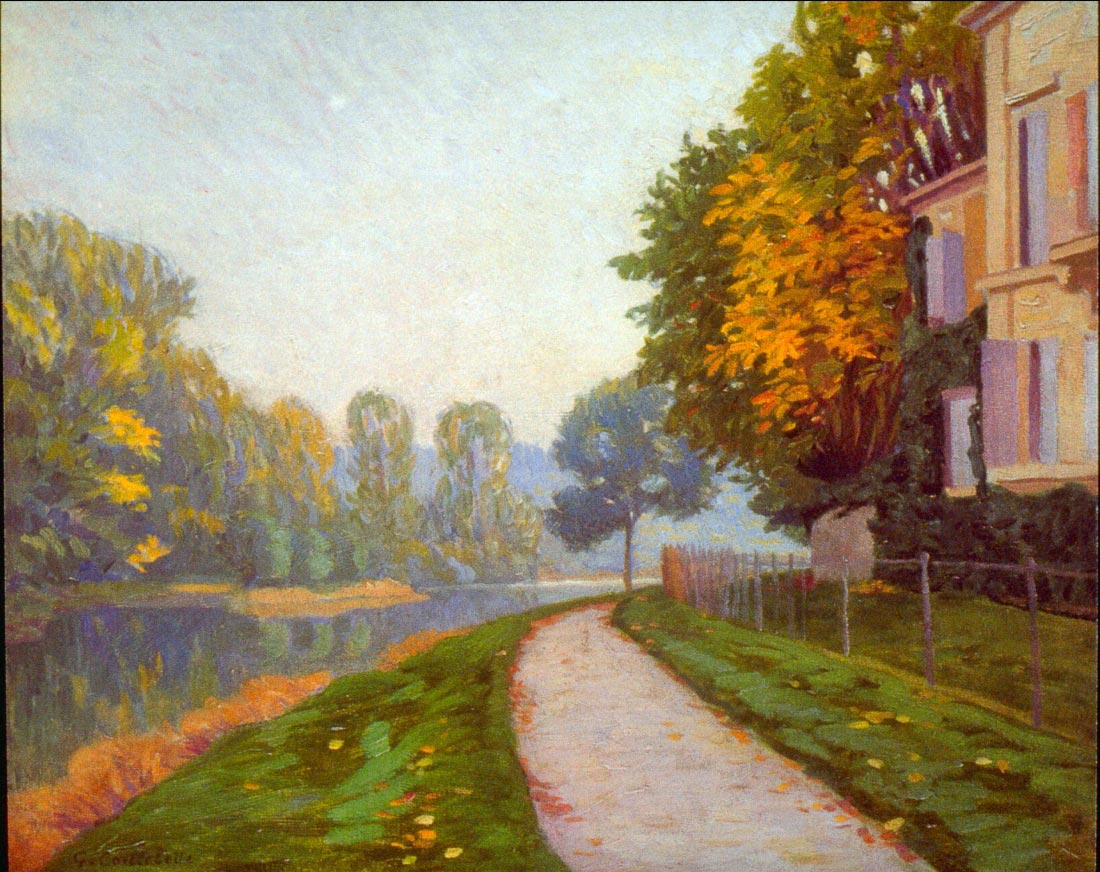 Riverbank - Caillebotte