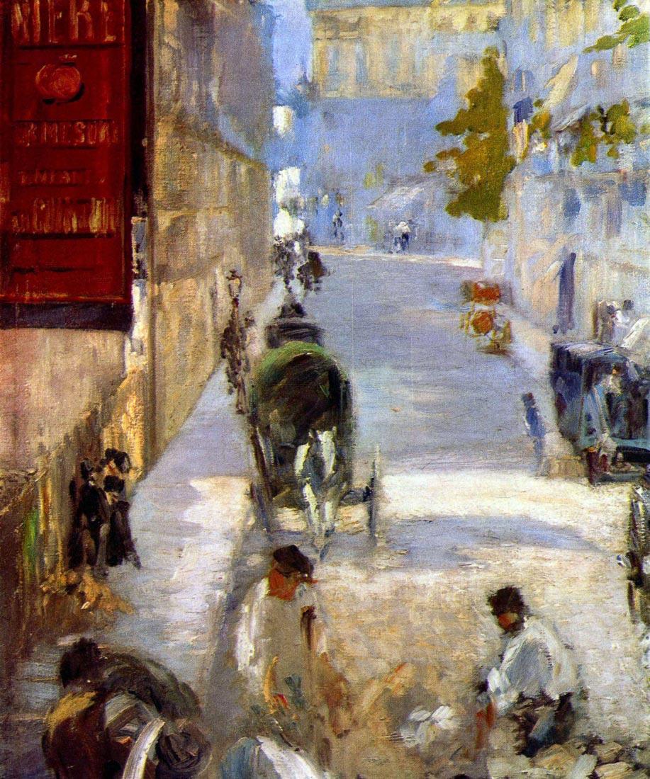Road workers, rue de Berne (detail) - Manet