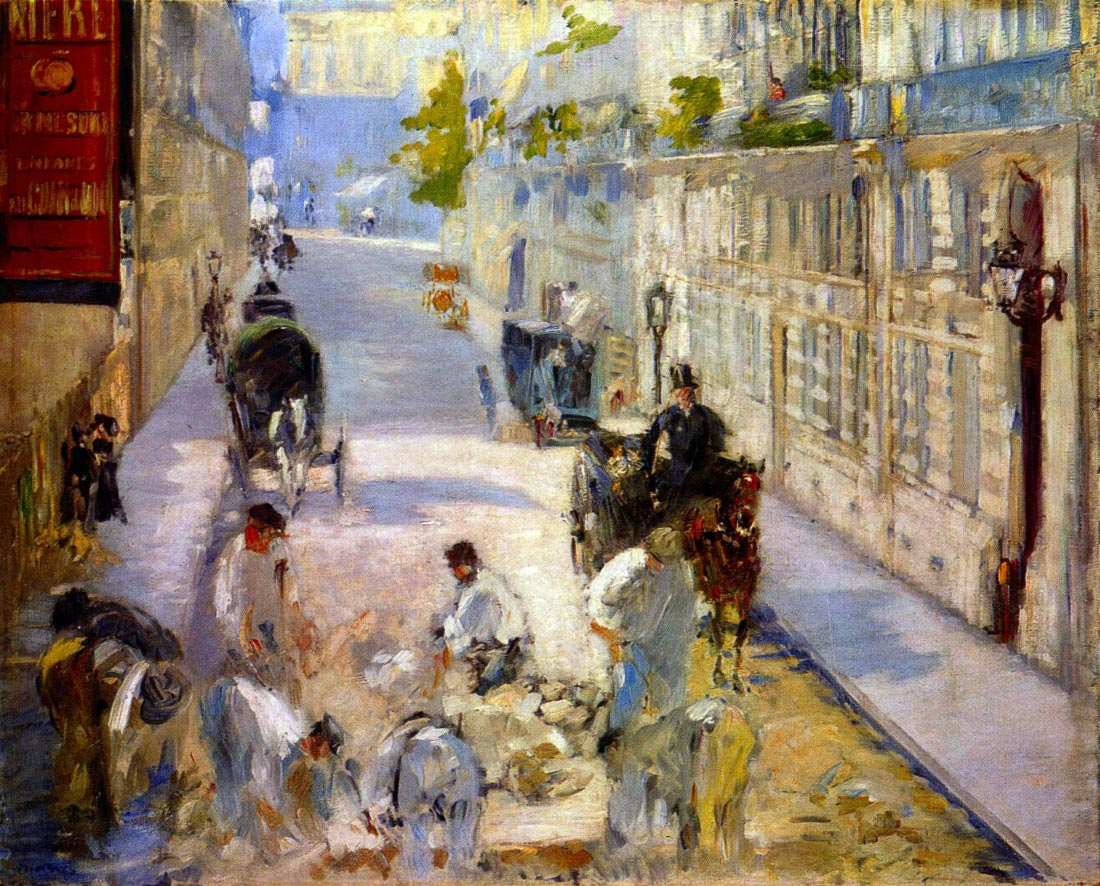 Road workers, rue de Berne - Manet