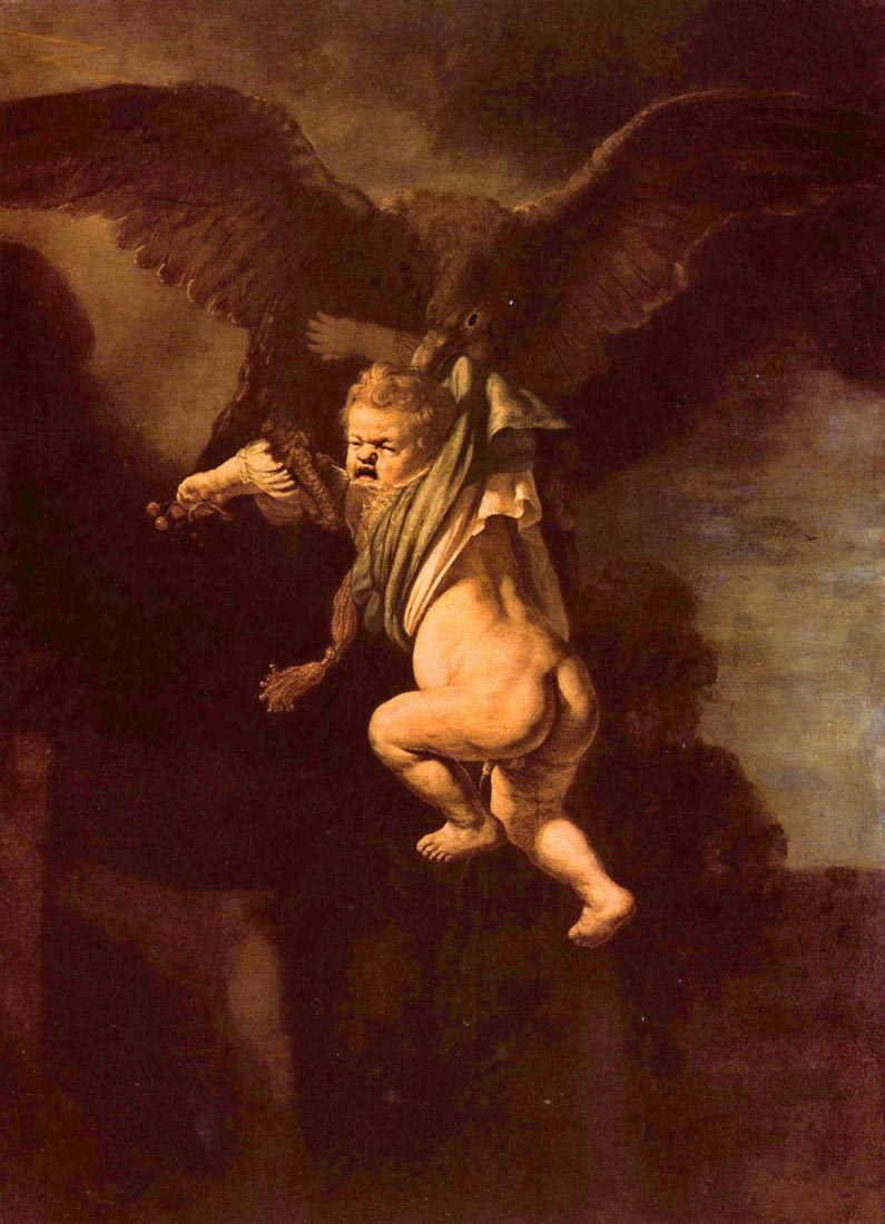 Robbery of Ganymede - Rembrandt