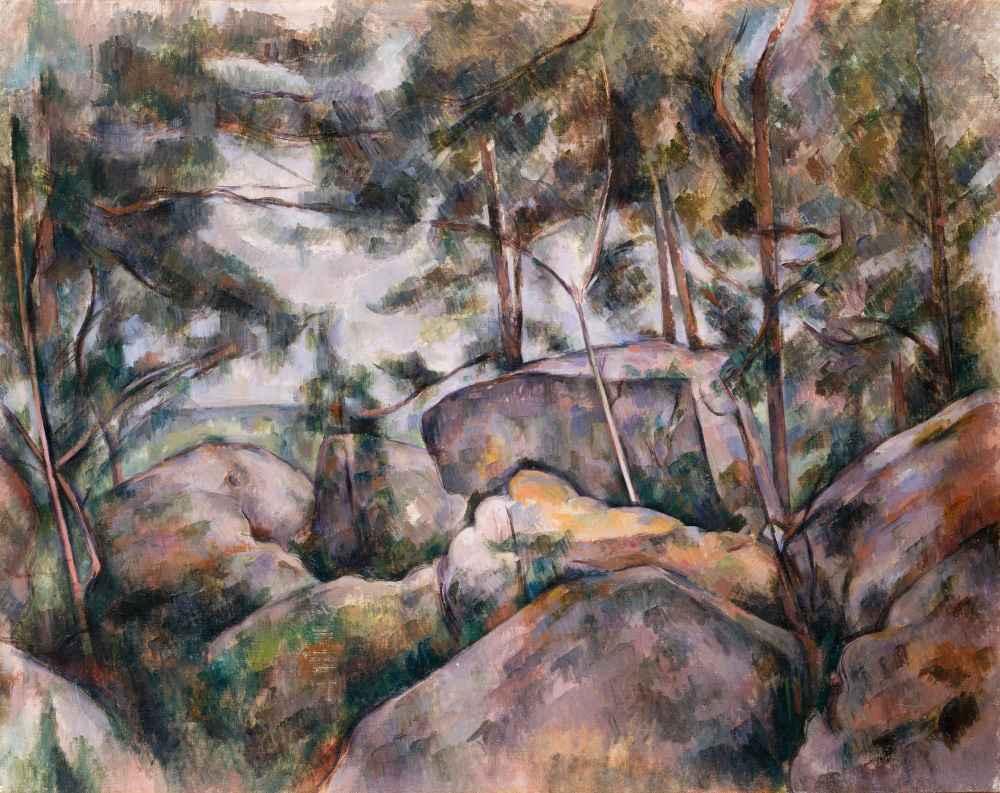 Rocks in the Forest - Paul Cezanne