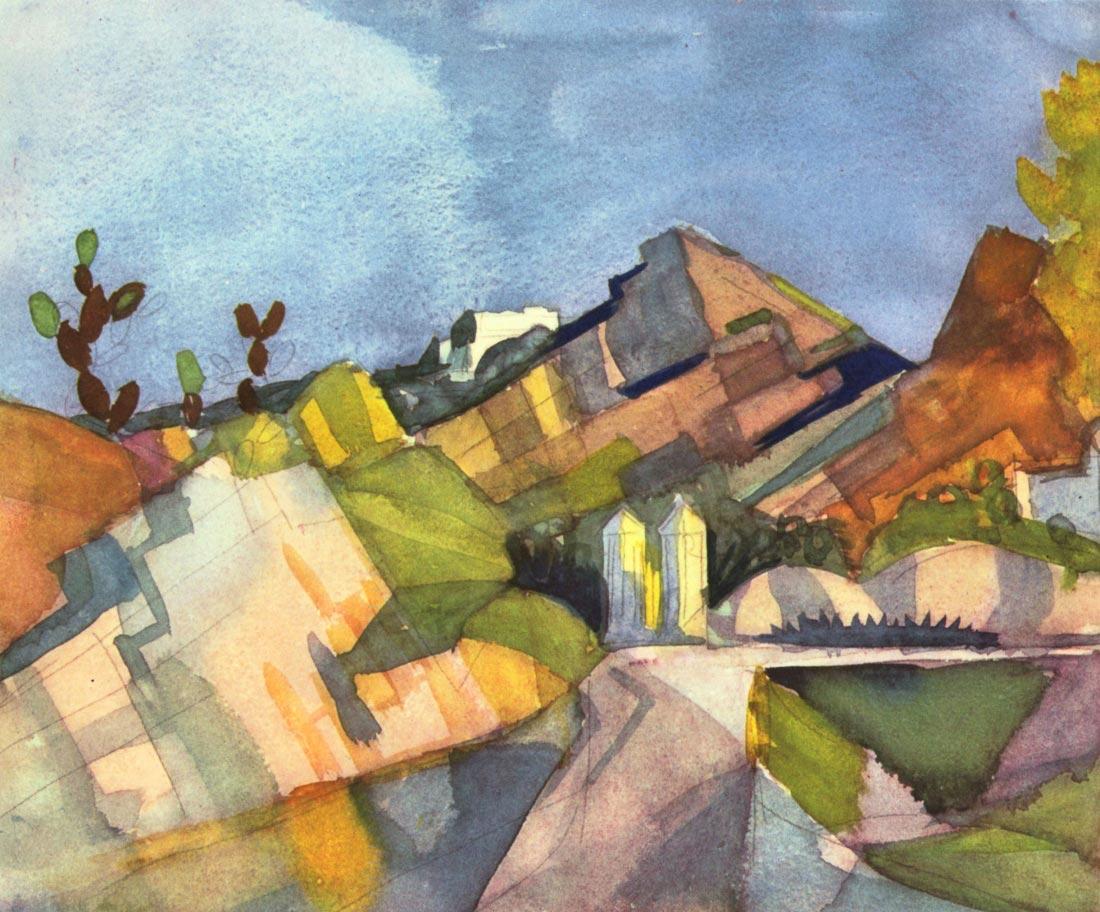 Rocky Landscape - August Macke