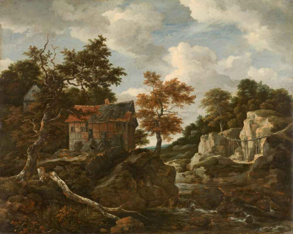 Rocky landscape - Jacob van Ruisdael